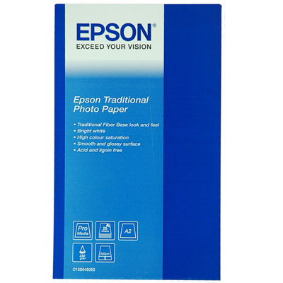Epson S045052 Traditional Fine Art A2 330gsm Photo Paper - 25 sheets
