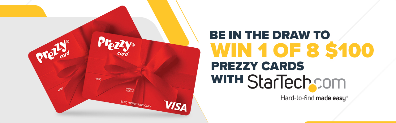 WIN 1 of 8 $100 Prezzy Cards with Startech