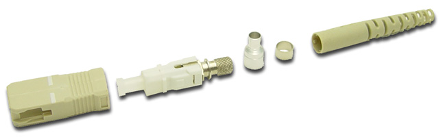 Dynamix SC Fibre Multi Mode Ceramic Connector. Supplied with a 3mm boot