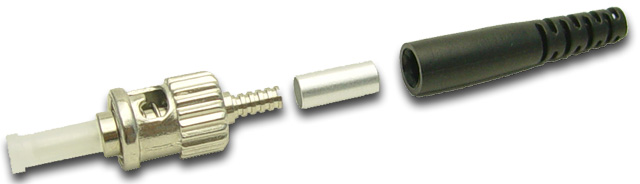 Dynamix ST Fibre Multi Mode Ceramic Connector. Supplied with a 3mm and 0.9mm boot