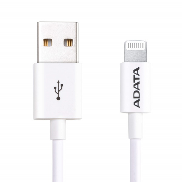 ADATA 1m USB Type-A to Lightning Charge & Sync - White