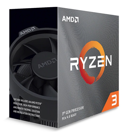 AMD Ryzen 3 3100X Quad Core AM4 CPU with Wraith Stealth Cooler