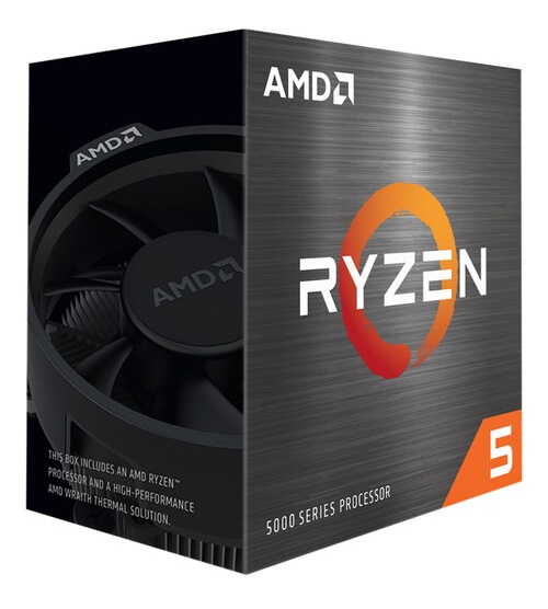 AMD Ryzen 5 5600X 6 Core AM4 CPU with Wraith Stealth Cooler - No Graphics