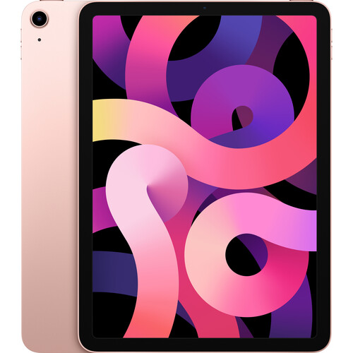 Apple iPad Air (4th Gen, 2020) 10.9 Inch A14 Bionic Chip 64GB Storage Wi-Fi & Cellular Tablet with iPadOS 14 - Rose Gold