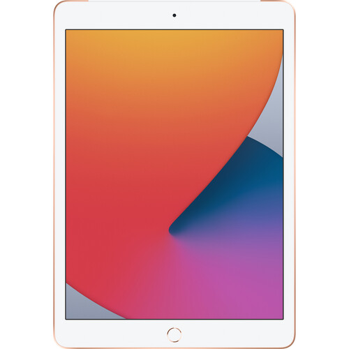 Apple iPad (8th Gen, 2020) 10.2 Inch A12 Bionic Chip 128GB Storage Wi-Fi Tablet with iPadOS 14 - Gold