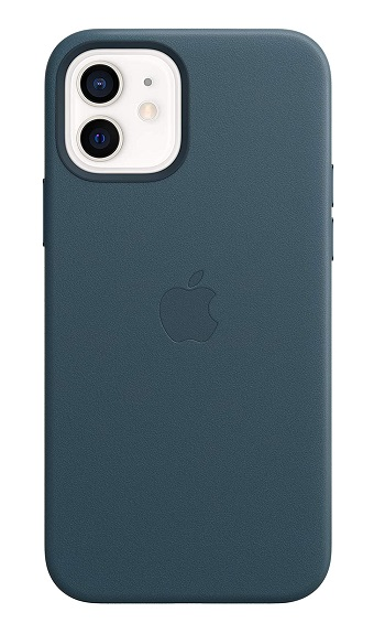 Apple Leather MagSafe Case for iPhone 12 & iPhone 12 Pro - Baltic Blue