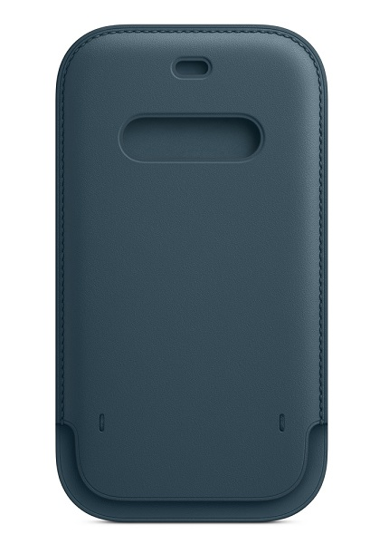 Apple iPhone 12/12 Pro Leather Sleeve with MagSafe - Baltic Blue