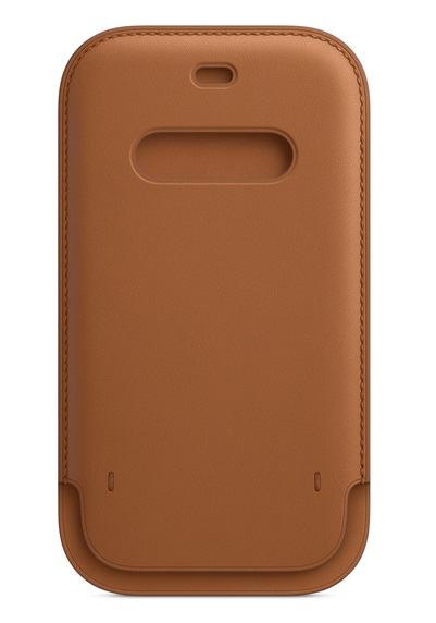 Apple iPhone 12/12 Pro Leather Sleeve with MagSafe - Saddle Brown