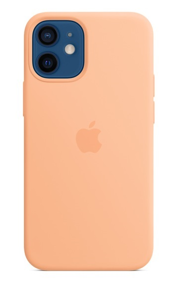 Apple Silicone Case with MagSafe for iPhone 12 and 12 Pro - Cantaloupe