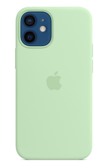 Apple Silicone Case with MagSafe for iPhone 12 and 12 Pro - Pistachio