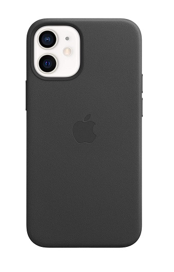 Apple Leather MagSafe Case for iPhone 12 Mini - Black