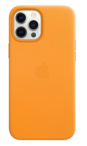Apple Leather MagSafe Case for iPhone 12 Pro Max - California Poppy