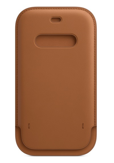 Apple iPhone 12 Pro Max Leather Sleeve with MagSafe - Saddle Brown