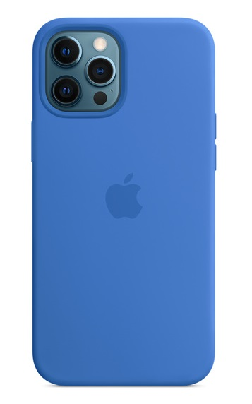 Apple Silicone Case with MagSafe for iPhone 12 Pro Max - Capri Blue