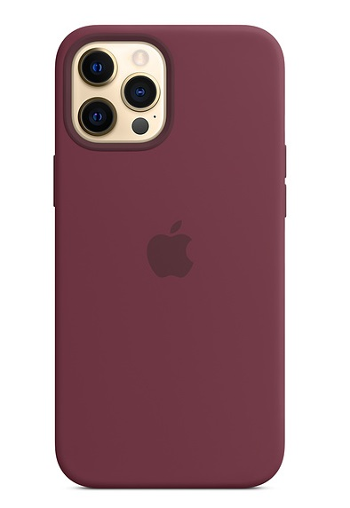 Apple Silicone MagSafe Case for iPhone 12 Pro Max - Plum