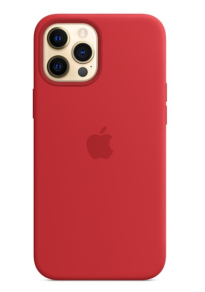 Apple Silicone MagSafe Case for iPhone 12 Pro Max - Red