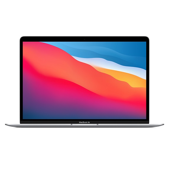 Apple MacBook Air (M1, Late 2020) 13.3 Inch Retina 2K Apple M1 3.2GHz 8GB RAM 256GB SSD Laptop with macOS - Silver