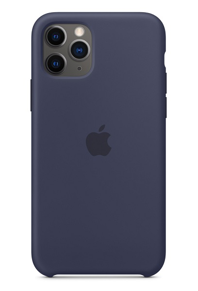Apple Silicone Case for iPhone 11 Pro - Midnight Blue