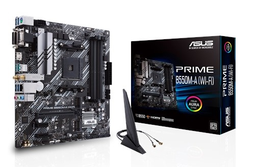 ASUS PRIME B550M-A (WI-FI) AMD AM4 B550 mATX Wireless Gaming Motherboard