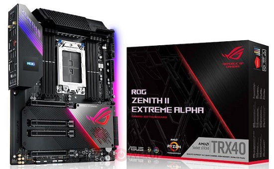 ASUS ROG ZENITH II EXTREME ALPHA AMD sTRX4 TRX40 ATX Gaming Motherboard