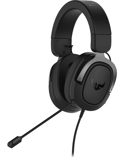 ASUS TUF GAMING H3 3.5mm Over the Head Wired Stereo Gaming Headset - Gun Metal