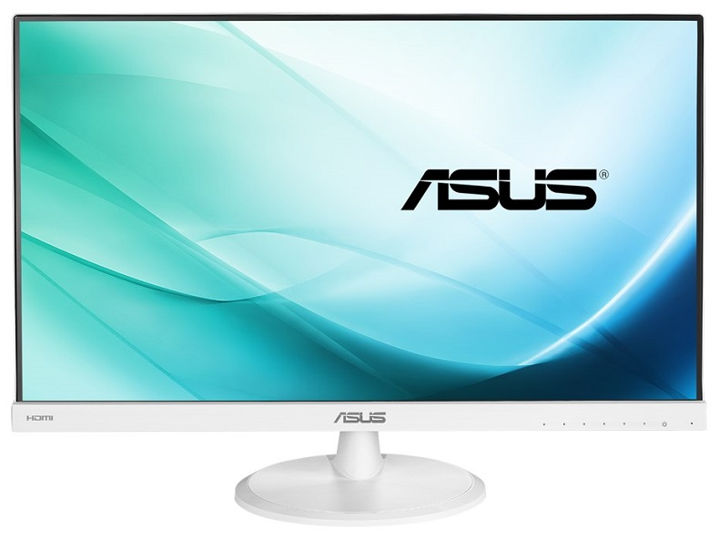 Asus VC239H-W 23 Inch 1920 x 1080 5ms 250nit IPS Eye Care White Monitor with Speakers - HDMI DVI VGA