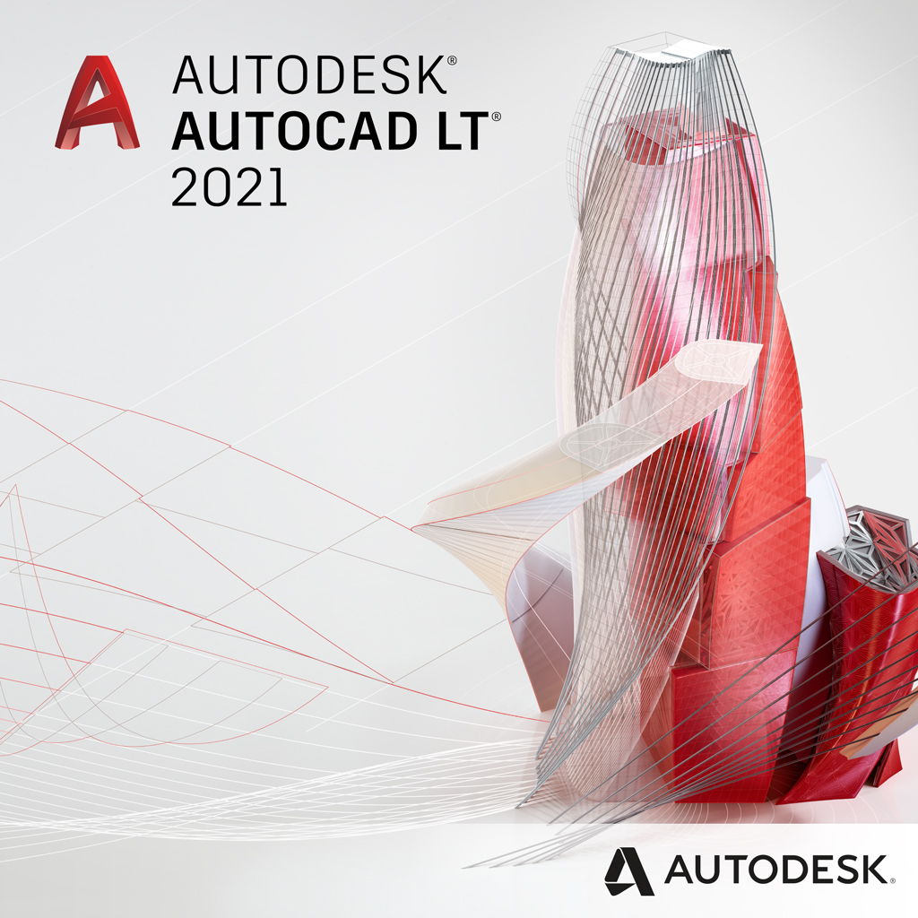 Autodesk AutoCAD LT 2021 Commercial New License for Windows or Mac - 12 Month Subscription