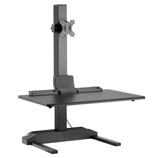 Brateck DWS19-T01 Electric Sit-Stand Desk Converter with Single Monitor Mount