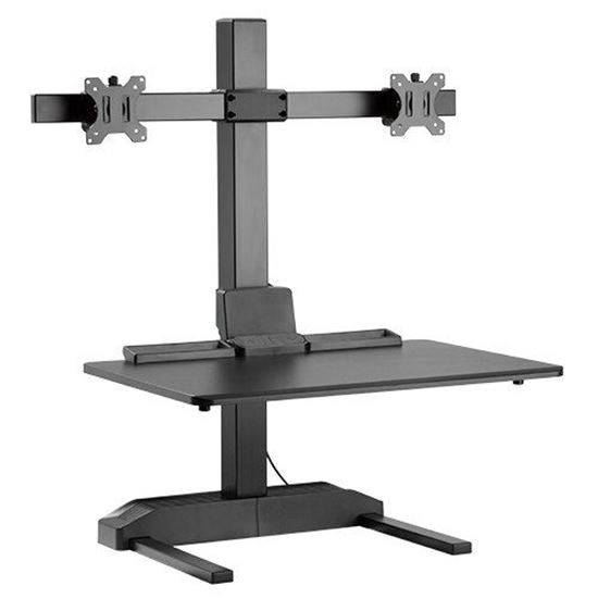 Brateck DWS19-T02 Electric Sit-Stand Desk Converter with Dual Monitor Mount