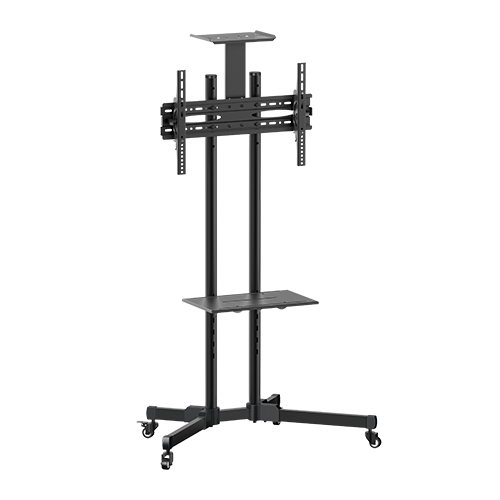Brateck Economy Multifunctional Mobile Cart Trolley Mount for 32-70 Inch Flat Panel TVs or Monitors with Camera Shelf - Up to 50 kgs
