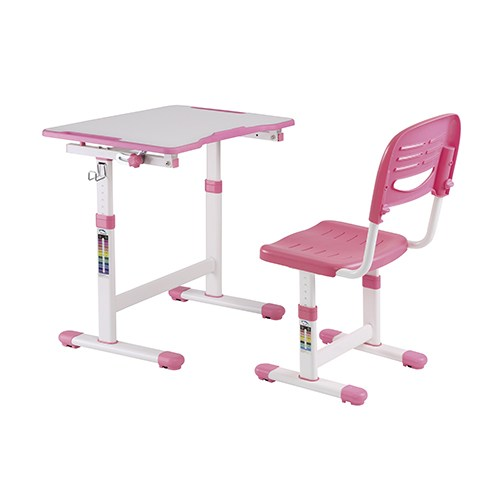 Brateck Ergonomic Child Desk and Chair Workstation Set - Pink