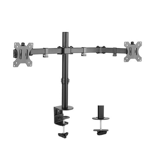 Brateck Economy Double Joint Dual Monitor Desk Mount Bracket for 13-32 Inch Flat Panel TVs or Monitors - Up to 8kg per arm