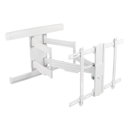 Brateck Contemporary Designed Full-Motion White Wall Mount Bracket for 37-80 Inch Flat Panel & Curved TVs or Monitors - Up to 70kg