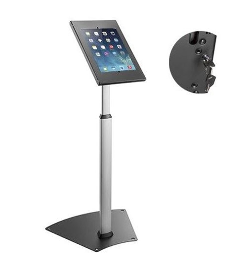 Brateck Heavy Duty Anti-Theft Floor Standing Tablet Kiosk Stand for 9.7-10.5 Inch Tablets