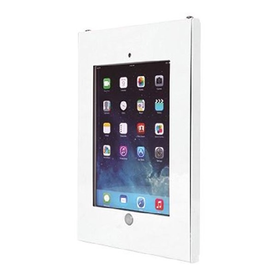 Brateck Anti-Theft Steel iPad Enclosure Wall Mountable with Lock for iPad 9.7 Inch - White