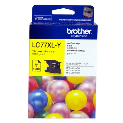 Brother LC77XLY Yellow High Yield Ink Cartridge