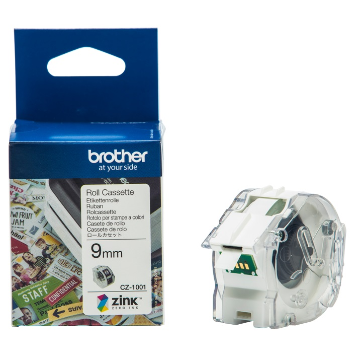 Brother CZ-1001 9mm x 5m Full Colour Continuous Label Roll