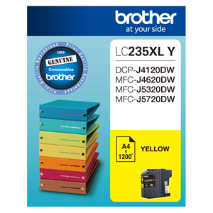 Brother LC235XLY Yellow High Yield Ink Cartridge