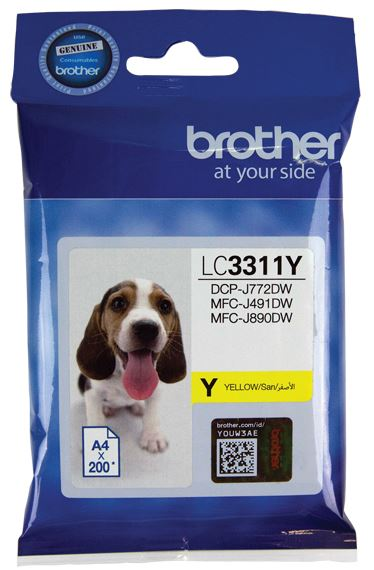 Brother LC3311 Yellow Ink Cartridge