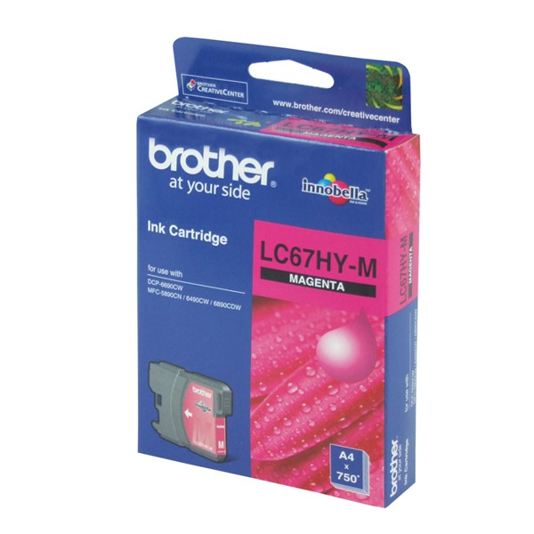 Brother LC67HYM Magenta High Yield Ink Cartridge