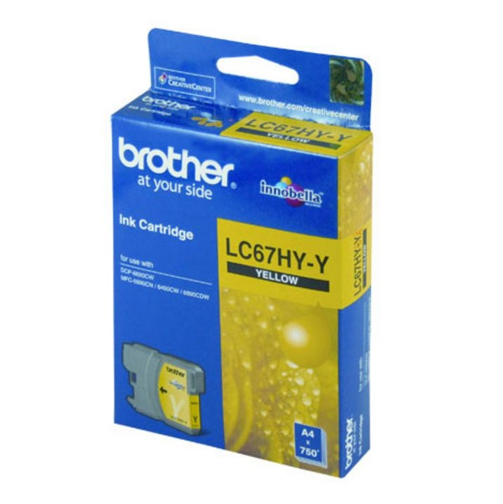 Brother LC67HYY Yellow High Yield Ink Cartridge