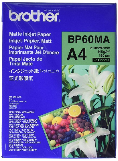 Brother BP60MA Matte A4 145gsm Photo Paper - 25 Sheets
