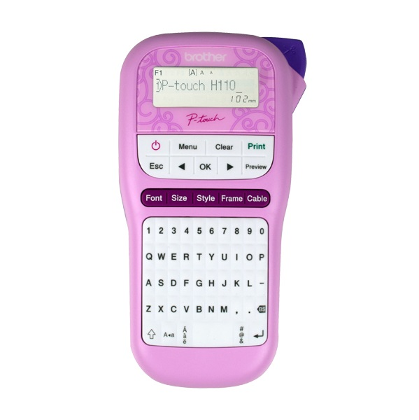 Brother P-Touch PTH110 Durable Label Printer - Pink + 4 Year Warranty Offer!