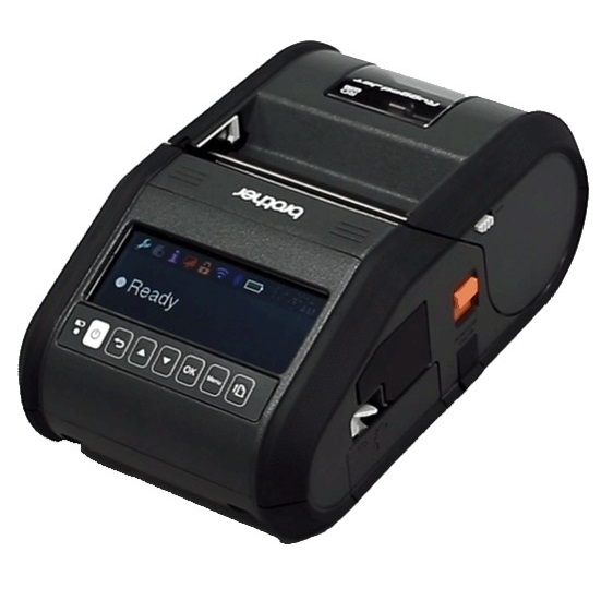 Brother Rugged Jet RJ3150 Direct Thermal Bluetooth Wireless Mobile Label Printer with LCD Screen