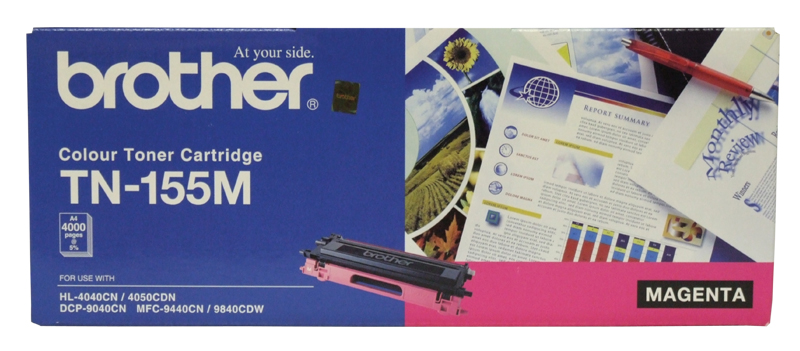 Brother TN155M Magenta High Yield Toner Cartridge