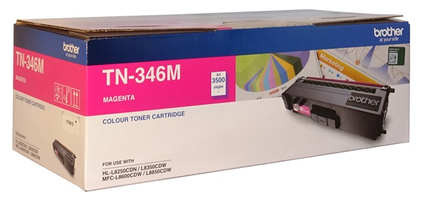 Brother TN346M Magenta High Yield Toner Cartridge