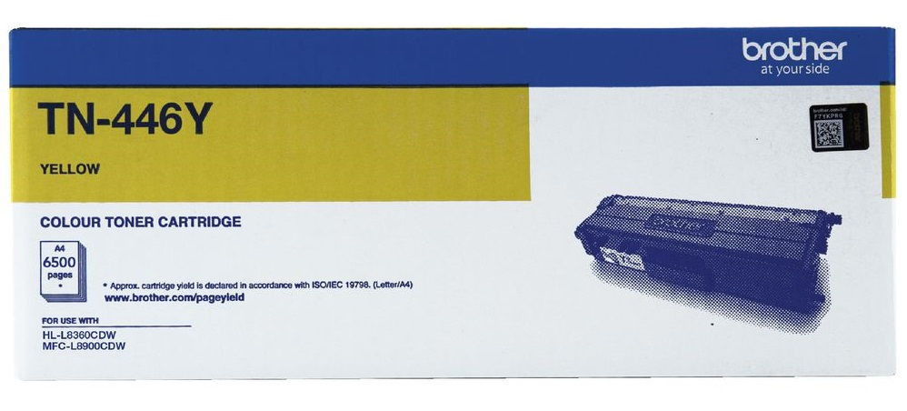 Brother TN446Y Yellow Super High Yield Toner Cartridge