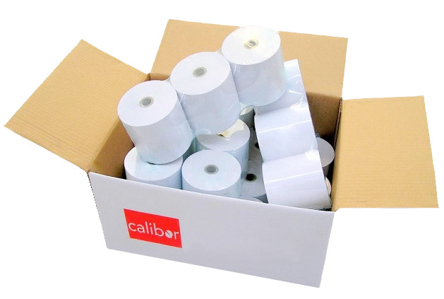 Calibor 44mm X 75mm Bond Paper - Box of 24 Rolls