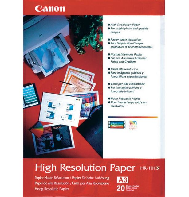 Canon Hr101a3ii High Resolution A3 Paper - 20 Sheets