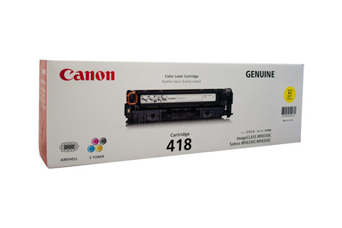 Canon CART418Y Yellow Toner Cartridge